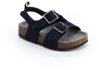 carters® Suede Cork Sole Sandal in Navy