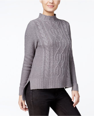 kensie High-Low Cable-Knit Sweater, A Macy's Exclusive Style $89 thestylecure.com