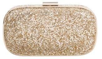 Anya Hindmarch Marano Glitter Box Clutch Gold Marano Glitter Box Clutch