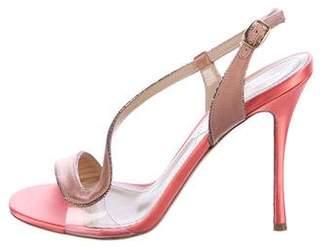 Nicholas Kirkwood Satin Embellished Sandals