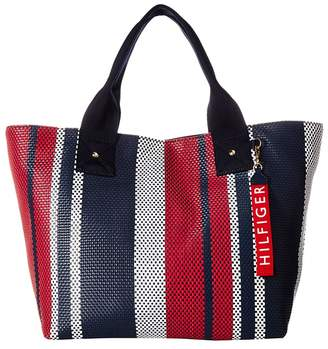 Tommy Hilfiger Classic Tommy Woven PVC Tote Tote Handbags