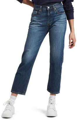 Levi's 501® High Waist Crop Straight Leg Jeans