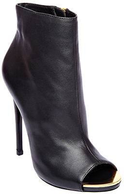 Steve Madden Dianna Leather Open Toe Ankle Boot Stilettos
