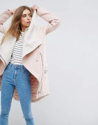 Asos Waterfall Parka with Fleece Lining