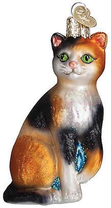 "Old World Christmas 4"" Calico Cat Ornament - Orange - OLD WORLD CHRISTMAS"