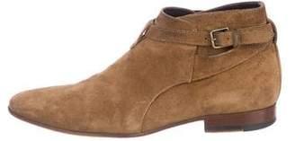 Saint Laurent Jodhpur Suede Ankle Boots