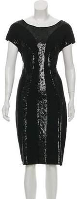Alberta Ferretti Sequined Knit Dress