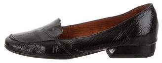 Lanvin Patent Leather Round-Toe Loafers