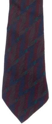 Salvatore Ferragamo Geometric Intarsia Wool & Silk Tie