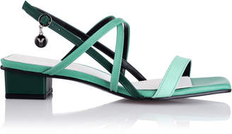 YUUL YIE Color-Blocked Leather Sandals