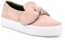 Rebecca Minkoff Stacey Suede Slip-On Sneakers $130 thestylecure.com