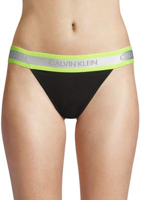 Calvin Klein Underwear Neon Hazards High-Cut Bikini Panty
