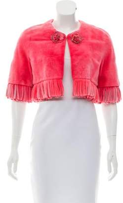 J. Mendel Sheared Mink Fur Shrug Pink Sheared Mink Fur Shrug
