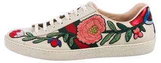 Gucci Ace Web Embroidered Ayers Sneakers