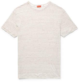 Isaia Slim-Fit Mélange Slub Linen T-Shirt