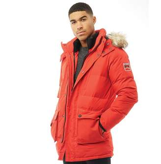 Superdry Mens SD Expedition Parka Jacket Red