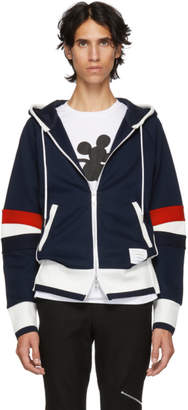 Thom Browne Navy Articulated Zip-Up Hoodie