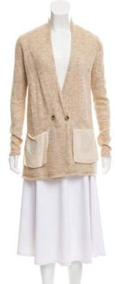 By Malene Birger Fur Blend Knitted Cardigan