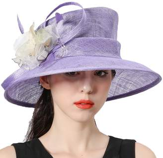 Church's June's Young Women Hats Flapper Sinamay Floral Hat