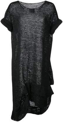 Yohji Yamamoto sheer asymmetric sweater