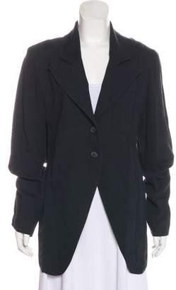 Ann Demeulemeester Button-Up Notch-Lapel Blazer