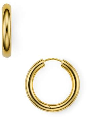 Argentovivo Seamless Medium Hinge Hoop Earrings