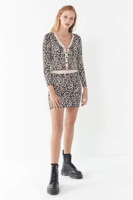 Urban Outfitters Jodi Cheetah Print Mini Skirt