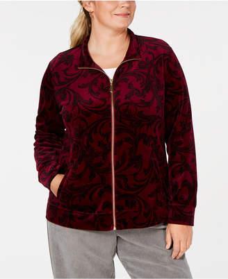 Karen Scott Plus Size Printed Jacket