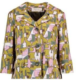 Printed Woven Hemp Jacket