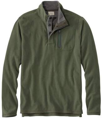 L.L. Bean Men's L.L.Bean Fleece Layering Button Mock Shirt, Slightly Fitted