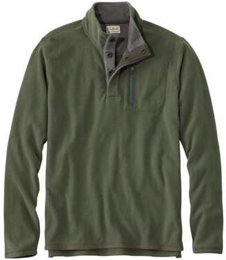 L.L. Bean L.L.Bean Fleece Layering Button Mock Shirt, Slightly Fitted