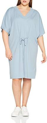 Junarose Women's Jrmalou 2/4 Sl Above Knee Dress - S Dress, Blue (Ashley Ashley Blue), (Manufacturer Size: Oversize S)