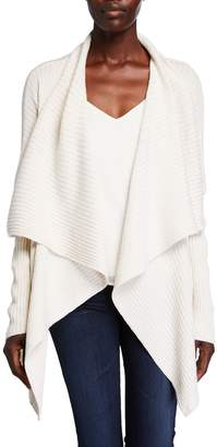 Lafayette 148 New York Waterfall Wool-Silk Cardigan
