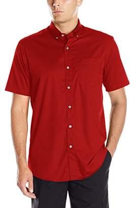 Clique Men's Short-Sleeve Avesta Stain Resistant Twill Shirt