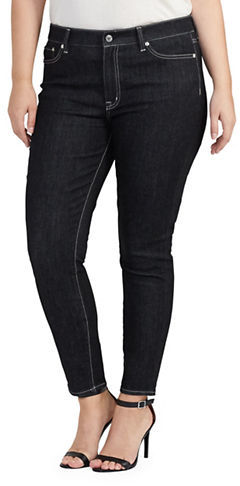 Lauren Ralph LaurenLauren Ralph Lauren Plus Solid Skinny Ankle-fit Jeans