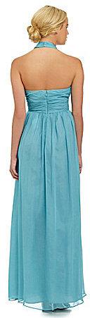 Jill Stuart Jill Crisscross Neck Chiffon Gown