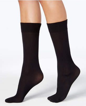 DKNY Women's 2-Pk. Ribbed Opaque Knee-High Socks