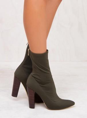 Billini Khaki Lycra Odyssey Boots