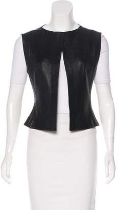 Chanel Leather Button-Up Vest
