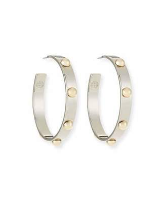 Tory Burch Stack Studded Hoop Earrings