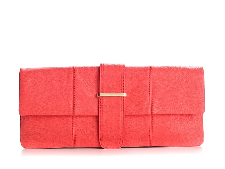 Poppie Jones Bright Tongue Flap Clutch