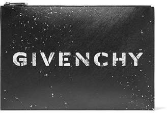 Givenchy Printed Textured-leather Pouch - Black