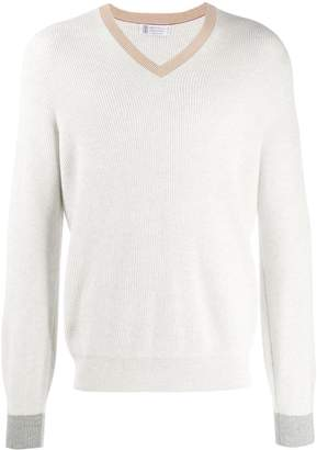 Brunello Cucinelli V neck jumper