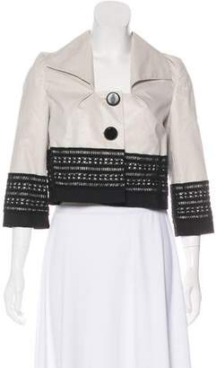Robert Rodriguez Cropped Lace Jacket