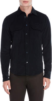 Peuterey Midnight Teal Corduroy Flap Pocket Shirt