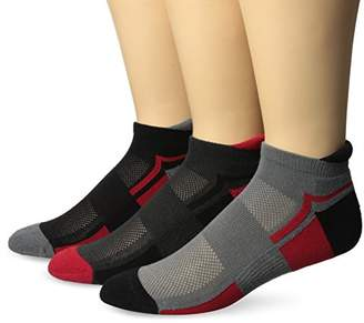 PowerSox Women's 3-Pack Powerlites No Show Socks with Moisture Control