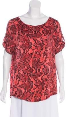 MICHAEL Michael Kors Snakeskin Print Short Sleeve Top