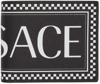 Versace Black Vintage Logo Wallet