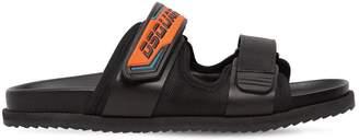 DSQUARED2 Leather Sandals W/ Moto Strap