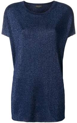 Roberto Collina glitter loose fit T-shirt